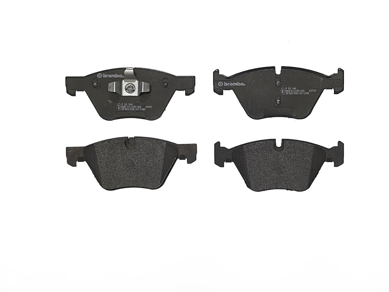 Set of 4 Brembo P06040 Front Disc Brake Pad