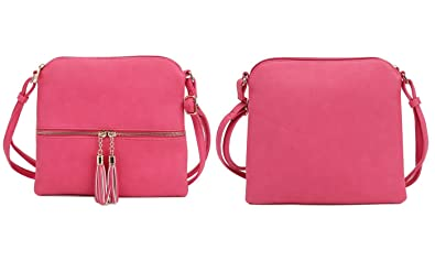 b1313157c23c52 Image Unavailable. Image not available for. Color: MKII Sadie Tassel  Crossbody Purse - Red