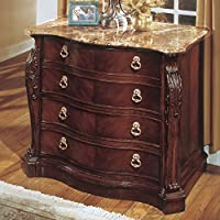 Bordeaux Cherry Two Drawer Lateral File With Marble Top Bordeaux Cherry Finish Dimensions: 36W X 21.5D X 30H Weight: 138 Lbs