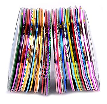 Amazon hipgirl nail art supplies 20pcs assorted diy nail art hipgirl nail art supplies 20pcs assorted diy nail art striping tape line decoration sticker prinsesfo Image collections