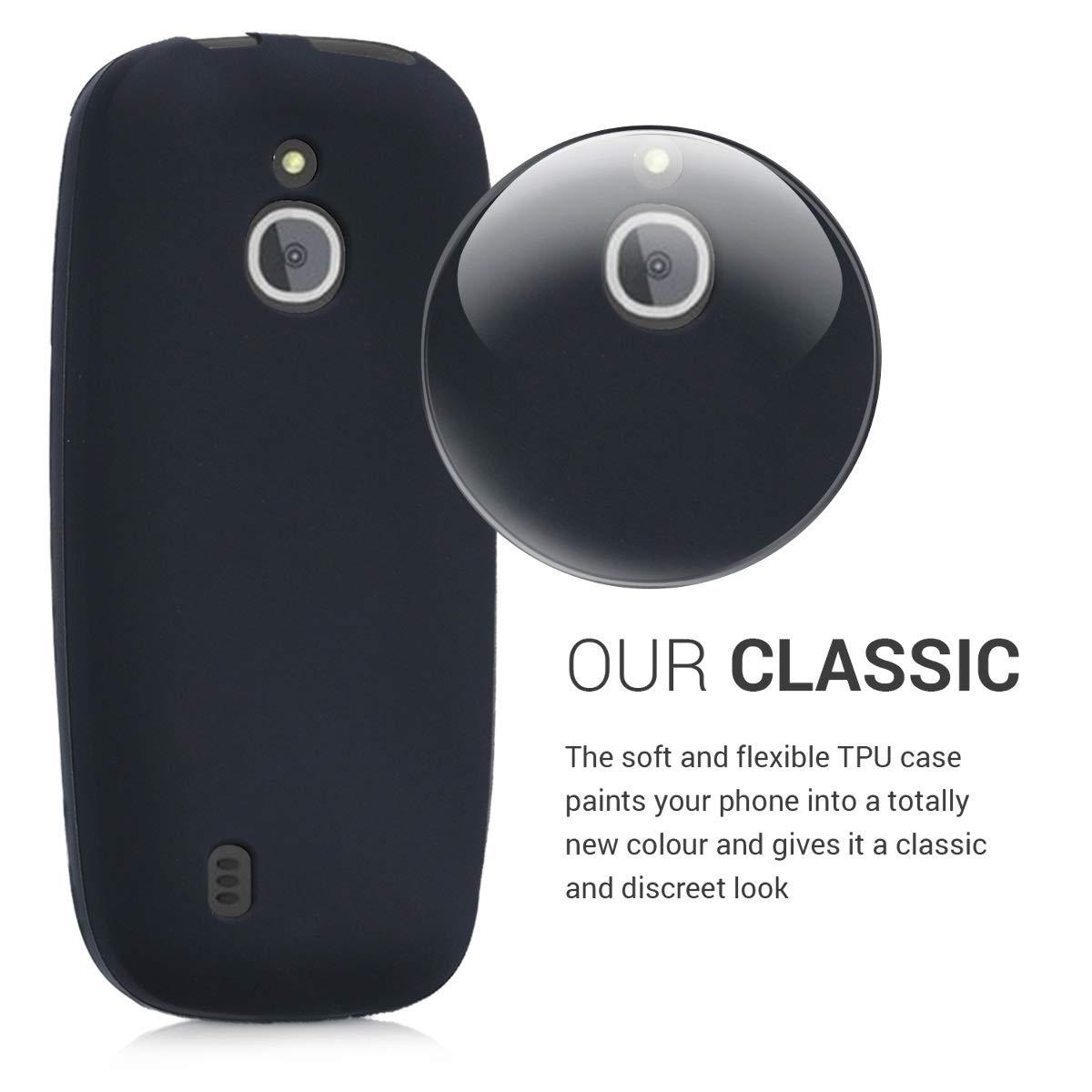 kwmobile /Étui TPU silicone /él/égant et sobre pour Nokia 3310 3G 2017 4G 2018 en transparent