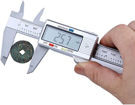 """4/"""" Electronic Caliper 0.0005/"""" Inch Metric Fractions Silver X-large iGAGING"""