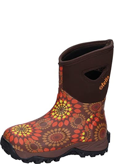 Fella Damen Gummistiefel MABLE MID bordeaux 43 vfHN4R