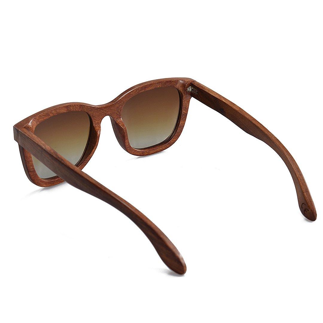 92596b697a2a02 BEWELL Lunettes de Soleil Bois Homme polaris é lens eyewear avec Bois de  monture Casual