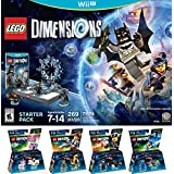 LEGO Dimensions Starter Pack for Nintendo Wii U PLUS LEGO Movie Bundle with Emmet 71212, Bad Cop 71213, Benny 71214, and UniKitty 71231