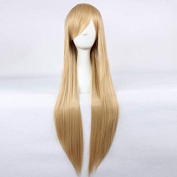 9a977b4228f Amazon.com   HOOLAZA Light Brown Long Straight Wig Natalia Natasha  Alfroskaya Mutsu Natsume Reiko Misa Amane MisaMisa Lizu Tonpuson Kotobuki  Tsumugi Rosa ...