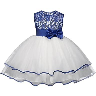 Longra Mädchen Kleid Prinzessin Kleid Festlich Kleider Brautjungfern ...