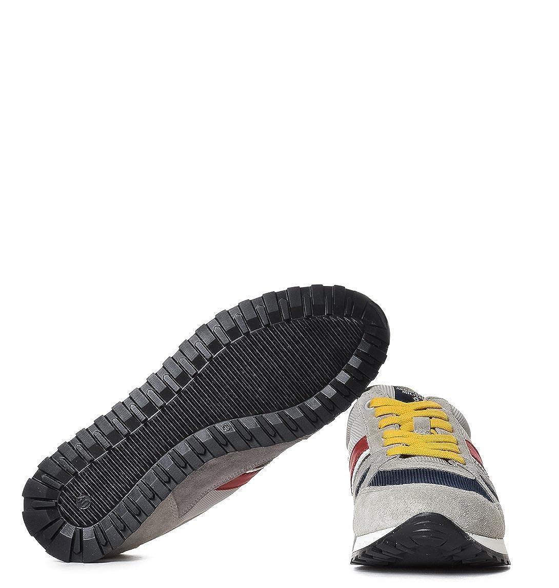 cd3e2abbd3 Aeronautica Militare Sneakers Uomo SC129CT212090311 Tessuto Grigio ...