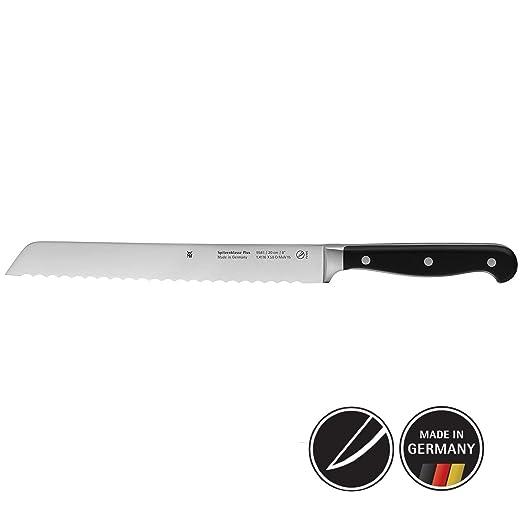 WMF Spitzenklasse Plus Cuchillo Pan, Acero Inoxidable, Negro, 20 cm