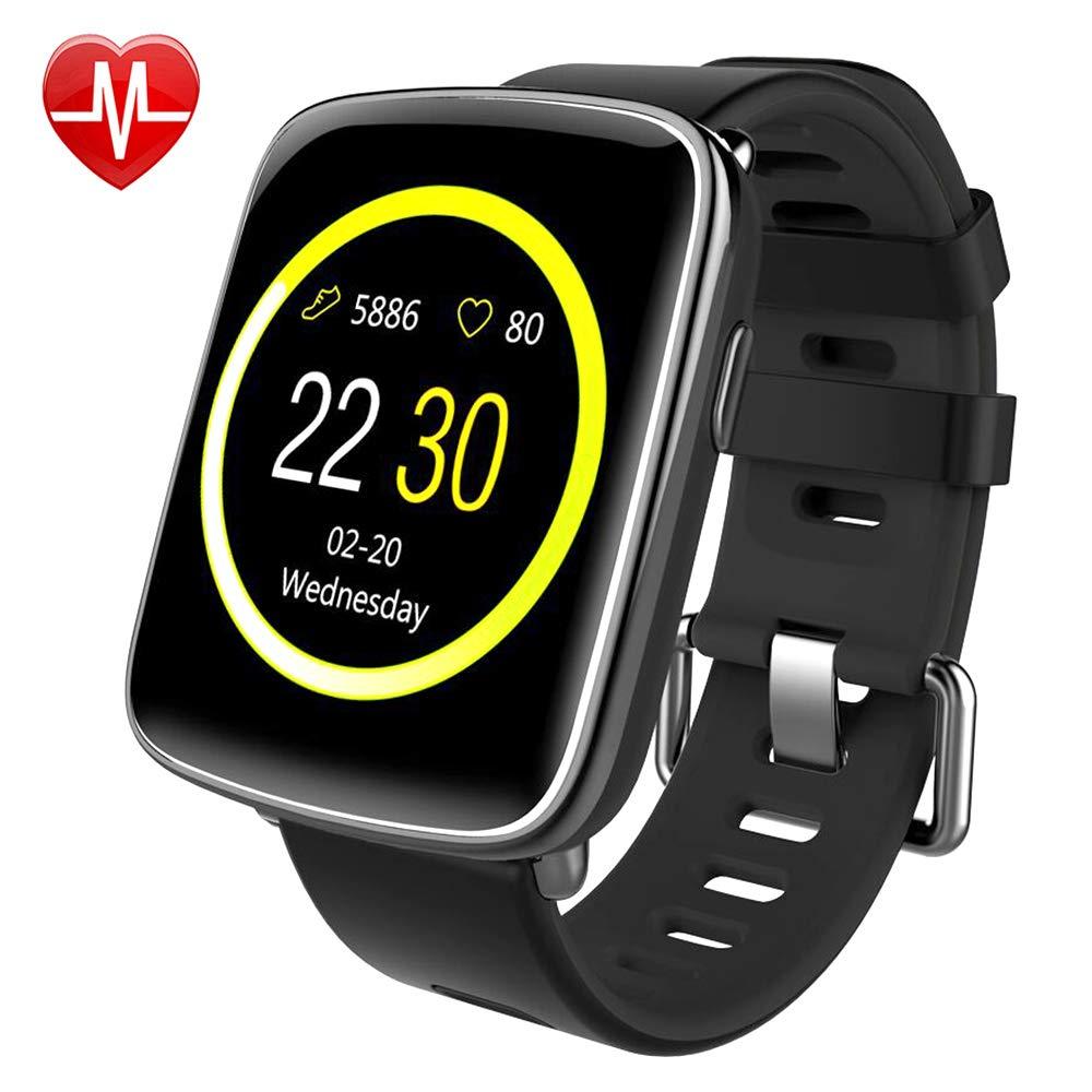 Montre Connectée pour iPhone et Android,Willful SW018 Smartwatch étanche IP68 Montre Sport (Podomètre,Cardiofréquencemètre,Sommeil) avec Réveil, Chronomètre ...