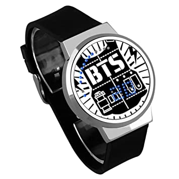 Skisneostype BTS - Reloj de Pulsera Deportivo Digital con LED Resistente al Agua para niños, Black 02: Amazon.es: Deportes y aire libre
