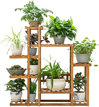 IDWOI Estantería para Plantas Estantería De Macetas Soporte De Planta con 6 Niveles Multifuncional Escalera para Plantas De Madera para Interior Exterior (Size : 108x23x108cm): Amazon.es: Hogar