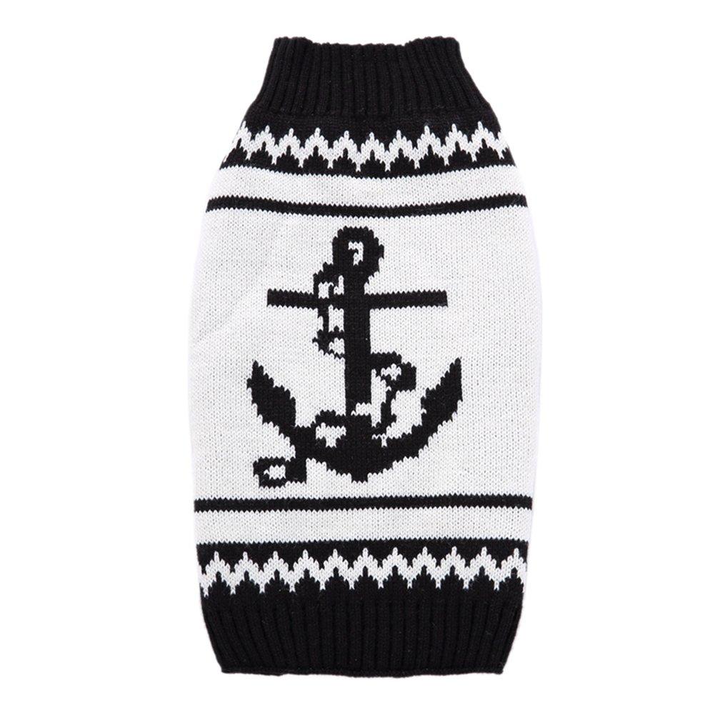 Mascotas perros suéteres de Navidad cálido puente blanco negro Otoño ...