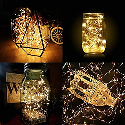 Festive LED String Lights, 10M / 33FT Vibrant Starry Fairy Copper String Lights, Bottle Lights, USB Powered Warm White Ambiance Lighting with 100 LEDs for Patio, Garden, Bedroom and Living Room