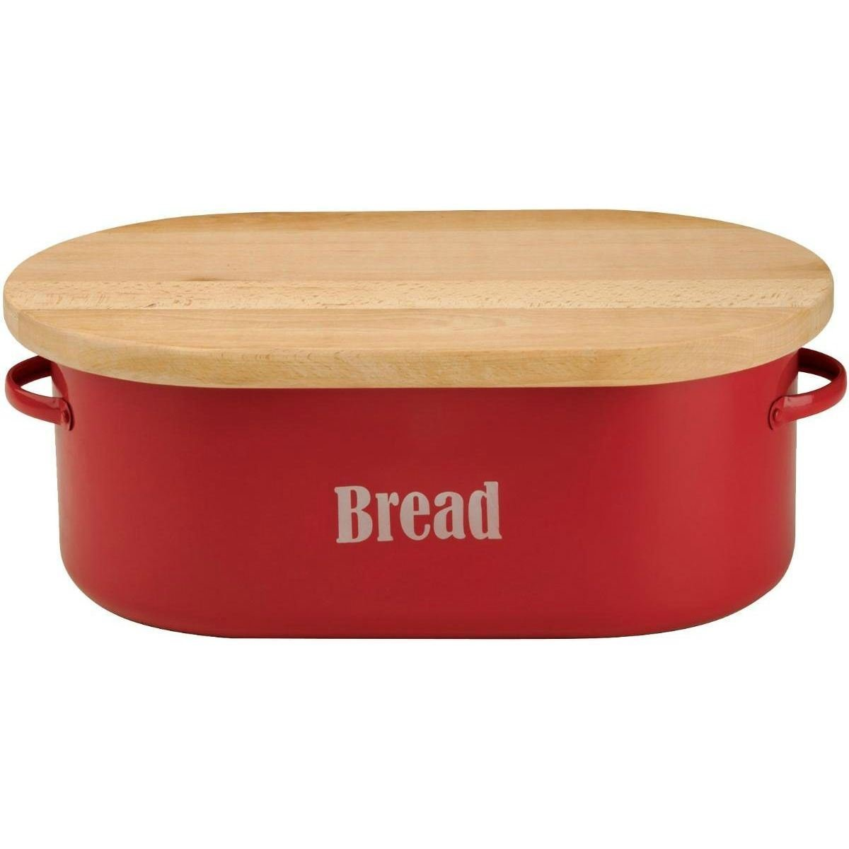 Typhoon Vintage Kitchen Breadcrock Red Bread Bin (Pack of 2) by Typhoon