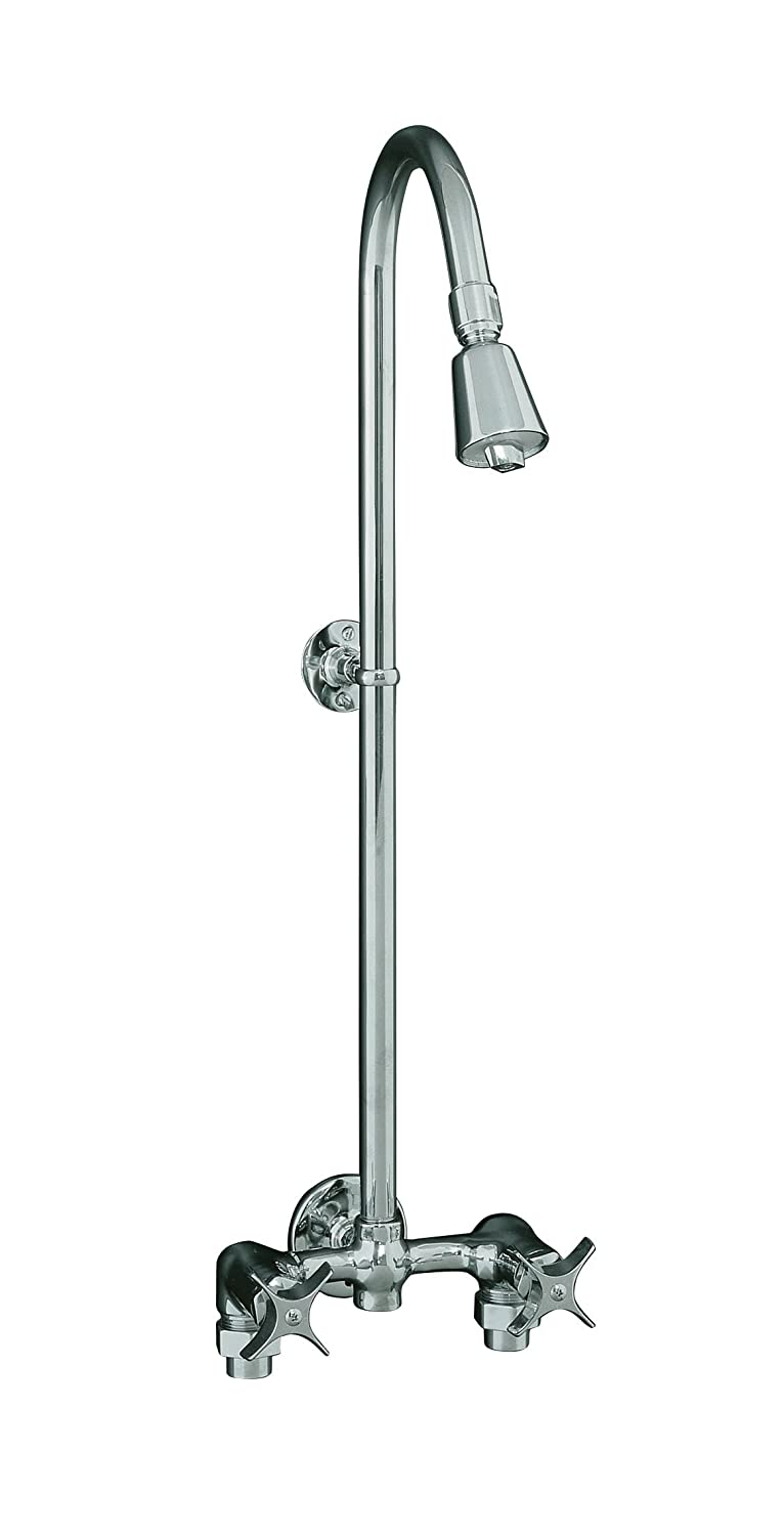 KOHLER K-7254-CP Industrial Exposed Shower, Polished Chrome - Fixed ...