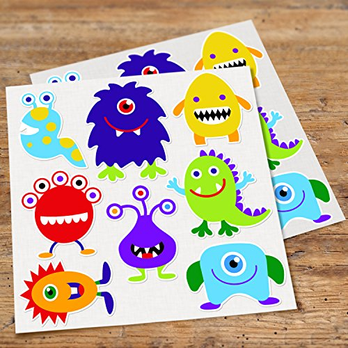 (Olive Kids Monster Wall Decal Cut Outs, Kids Monster Wall Decor)