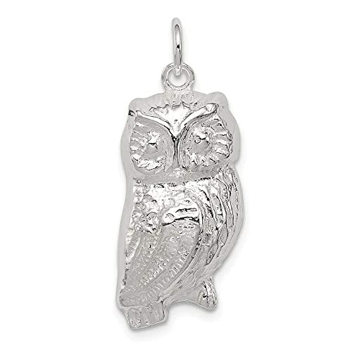 16-20 Sterling Silver Antiqued Bird Charm on a Sterling Silver Chain Necklace