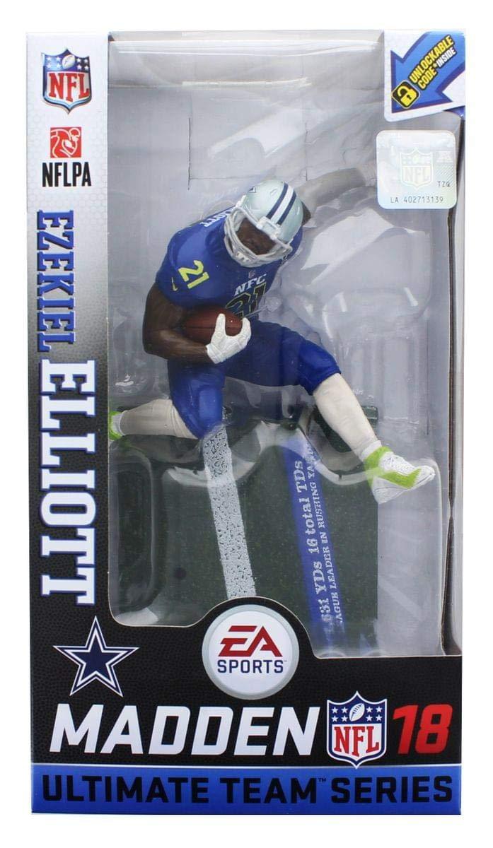 NFL Dallas Cowboys Madden 18 Ultimate Team Series 2 Figure: Ezekiel Elliott (Pro Bowl Chase)   B077YRGJJF