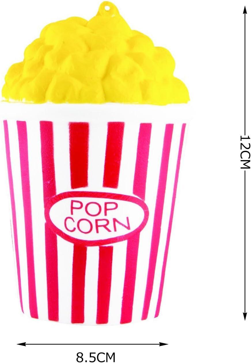 ZhengYue Jouets Spongieux Mignon Kawaii Doux Squishy Simulation Hamburger Caf/é Popcorn Jouet Slow Rising pour Enfants Adultes Soulage Stress Anxi/ét/é D/écoration