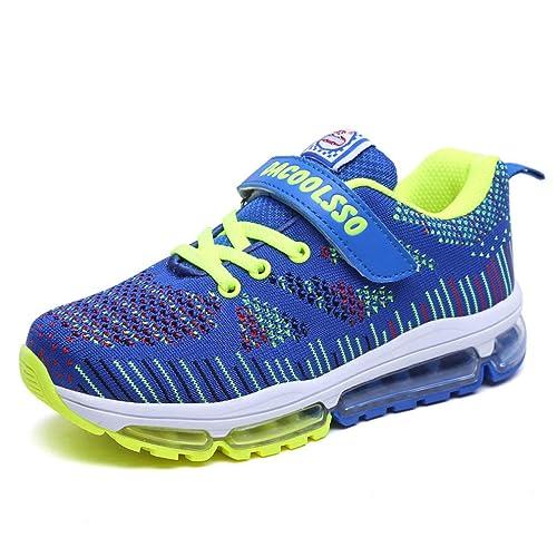 140ce6da3ba17 Sneakers Enfant Air Baskets Mode Fille Garcon Chaussures de Course Sneakers  Sport Runing Shoes Compétition Entraînement