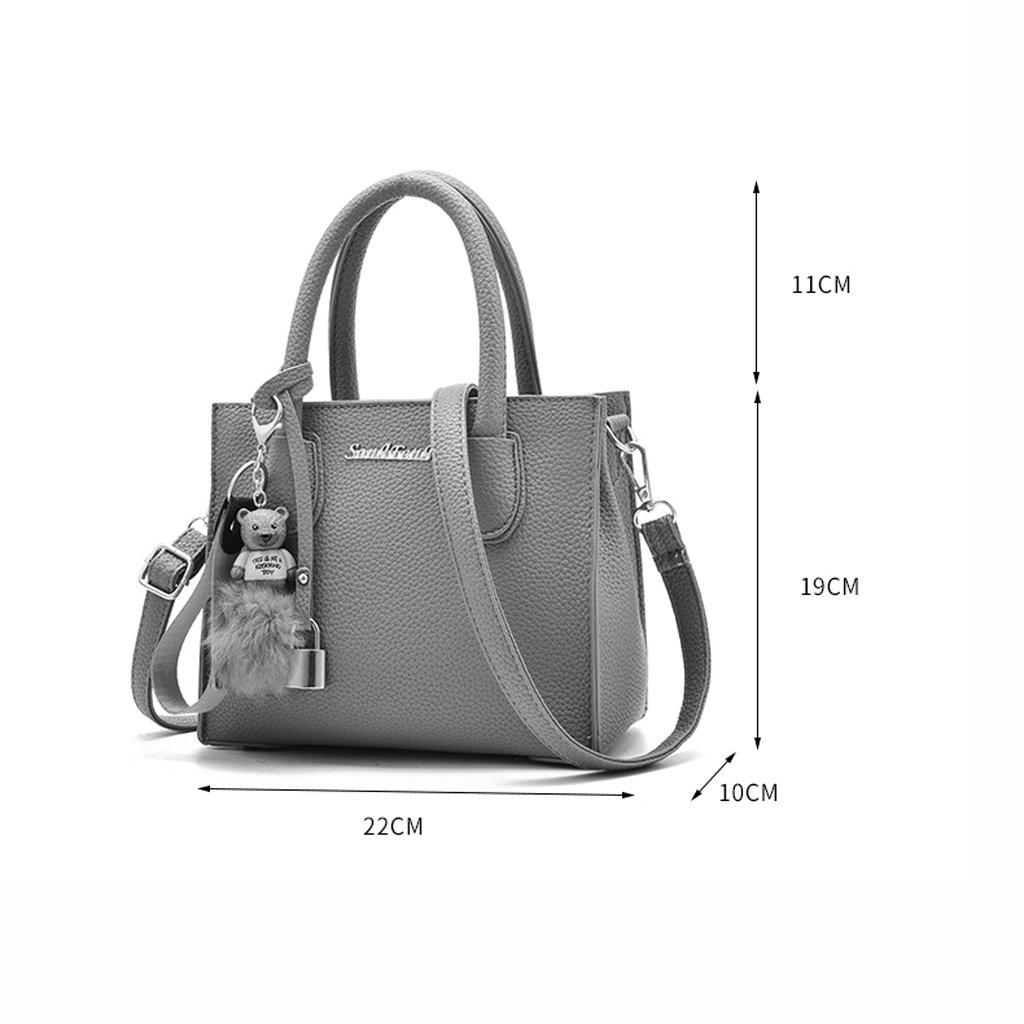 Amazon.com: Sencilla y de moda pequeña bolsa de mensajero ...