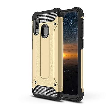 MAYO Funda Samsung Galaxy A40,Doble Capa Anti-arañazos ...