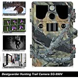 Bestguarder 1080P HD 12MP Waterproof IP66 CMOS Senor 5 Mode 9 shooting Infrared 42 IR LED Night Vision 2.0 Trail Hunting Scouting Camera For Digital Security and Surveillance