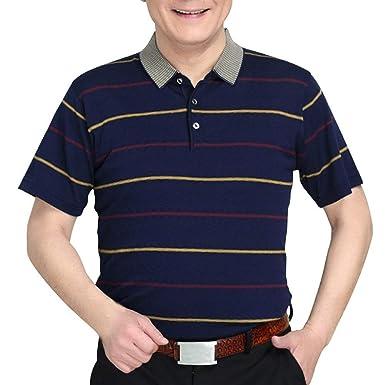 BOLAWOO Camisa De Polo para Hombre Verano Transpirable Casual Mode ...