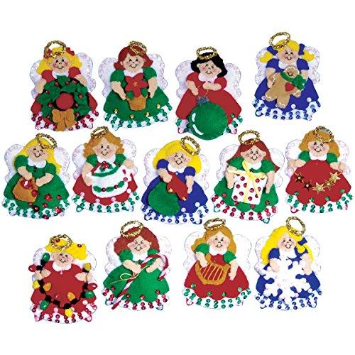 UPC 021465053950, Tobin Angel Ornaments Felt Applique Kit, 3 by 4-Inch, Set of 13