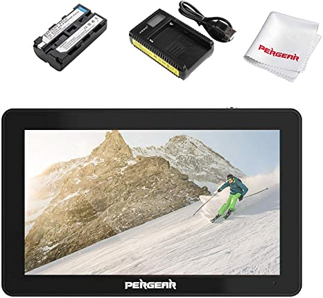 Pergear A6 Plus 5.5inch Touchscreen IPS 1920X1080 4K HDMI Camera Monitor Brightness 500cd//m2 3D Lut Camera Video Field Monitor,W//Battery and Charger
