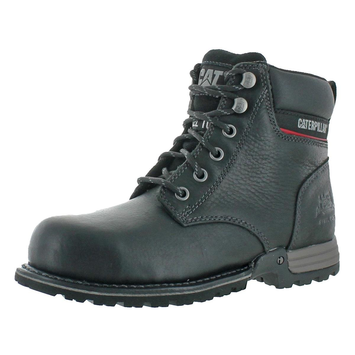 Caterpillar Women's Freedom Steel Toe Black Work Boots 6 W