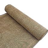 Alion Home 180 GSM Sunblock Shade Fabric Roll, 95% UV Block Breathable Mesh for Patio, Pergola, Greenhouse, Barn (8' x 50', Walnut)