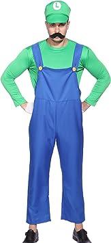 Disfraz de Super Mario Bros para hombre, estilo de los 80, talla M, L ...