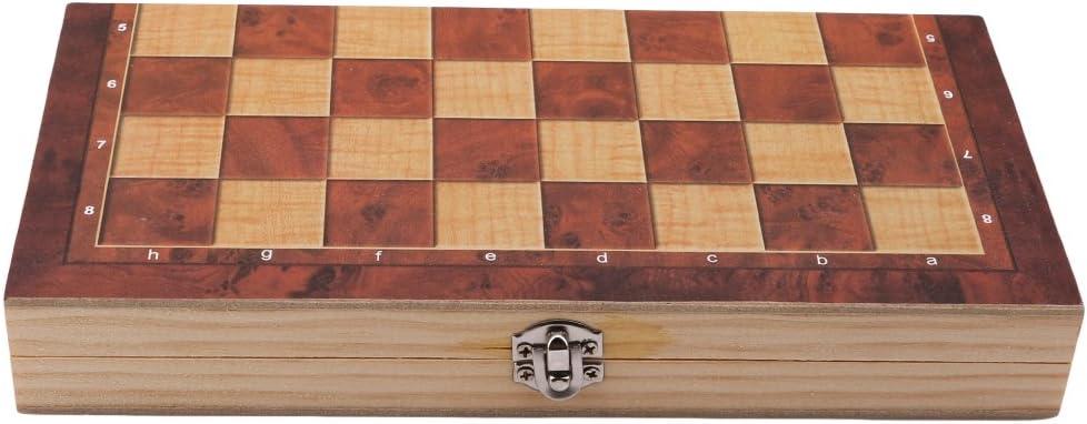 yinew Klappbarer Holz Schach Set perfekt Schach Spiel f/ür Kinder Erwachsene Anf/änger