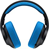 Logitech G233 Gaming Headset with Mic (Black and Blue) for PC and Console