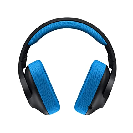 f7e3354516a Logitech G233 Gaming Headset with Mic (Black and Blue) for PC and Console