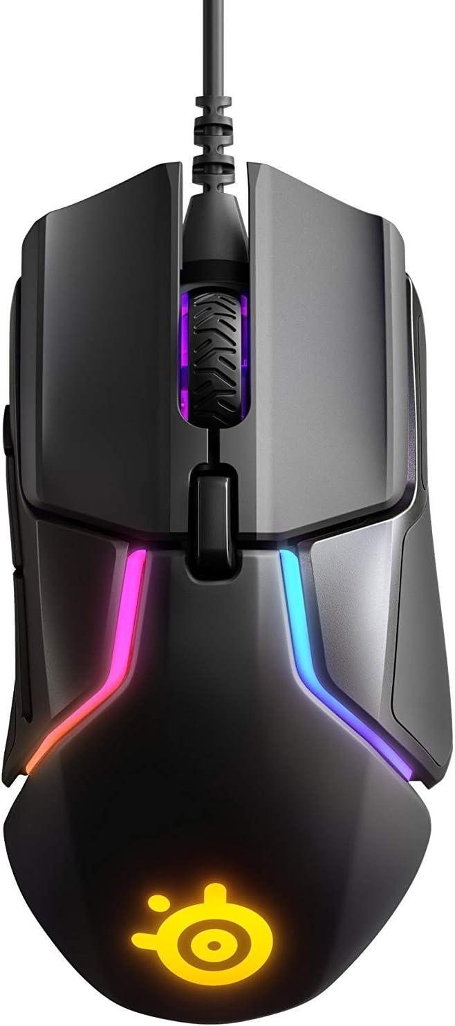 SteelSeries Rival 600, Ratón para juegos, Sensor óptico dual TrueMove3+, Distancia de elevación 0.05, Sistema de peso