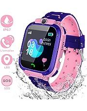 YIYOU Smartwatch Niños, Reloj Inteligente para Niños Impermeable ip67 con LBS, Hacer Llamadas, Chat de Voz, SOS, Cámara, Juegos, Mejor Regalo para Niño niña de 3 a 12 años Compatible con iOS/Android