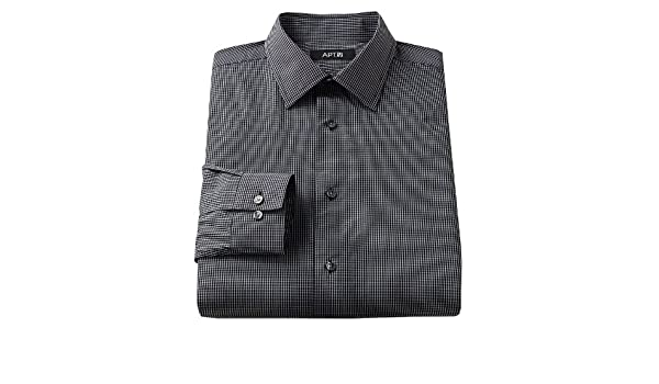 c7de2615 Apt. 9 Slim-Fit Patterned Spread-Collar Dress Shirt at Amazon Men's  Clothing store: Apparel