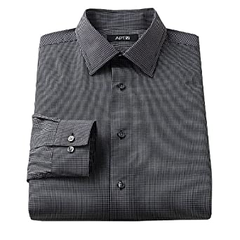 Apt. 9 Slim-Fit Patterned Spread-Collar Dress Shirt at Amazon ...