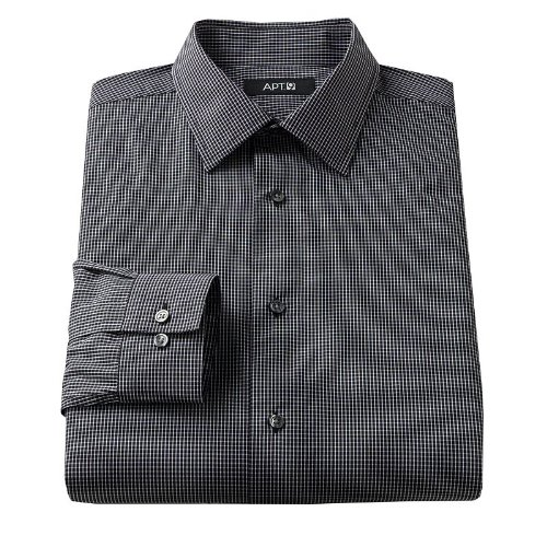 fb08659761c81 Apt. 9 Slim-Fit Patterned Spread-Collar Dress Shirt at Amazon Men s  Clothing store  Apparel