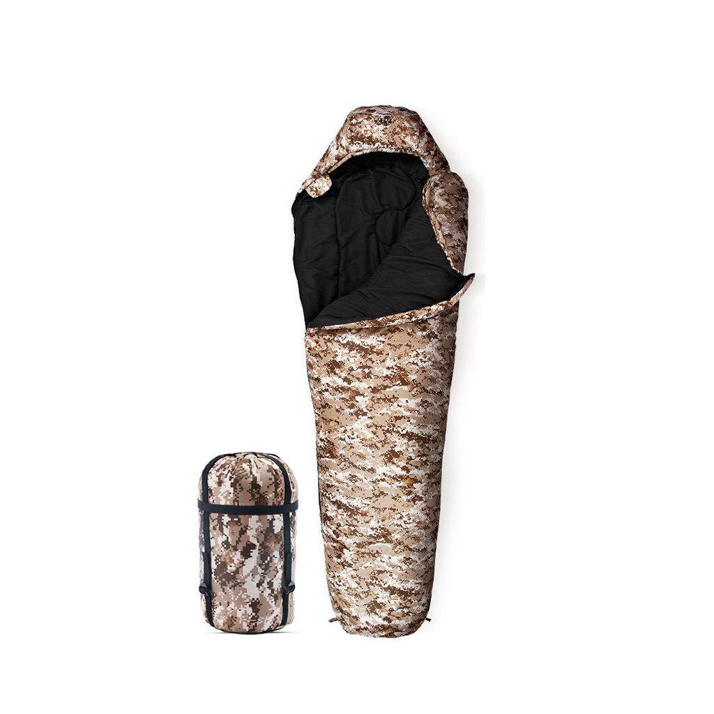 アウトドアキャンプスリーピングバッグ秋と冬屋外寝袋キャンプポータブルシングルスリーピングバッグ220x80cm (Color : A) B07H77HG3B C  C