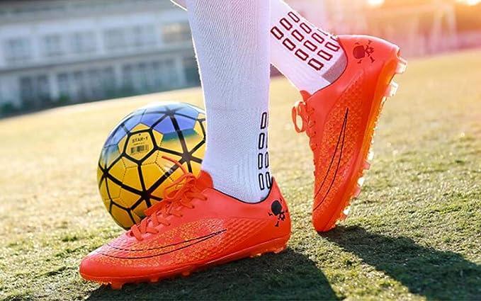 MSSugar Botas de fútbol para Hombre Botines Zapatos de fútbol Competición/Entrenamiento Zapatillas de Deporte para niños Zapatillas de fútbol para Exteriores Botas de Rugby Junior: Amazon.es: Deportes y aire libre