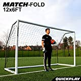 QuickPlay Match-Fold Soccer Goal (12x6') with 2YR Warranty