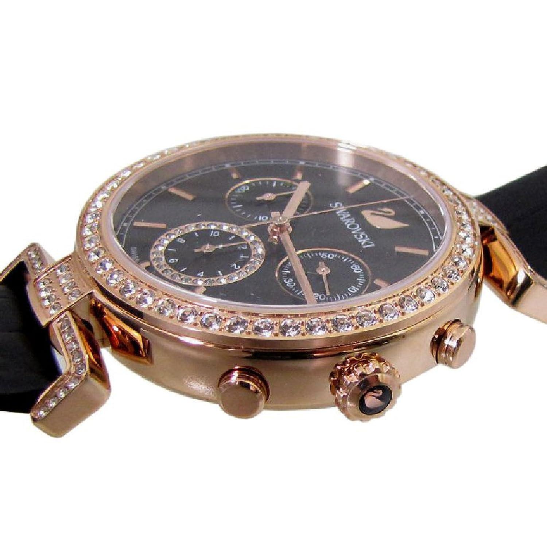 3d2bb34050f6 5295320 クロノグラフ ウォッチ レディース 時計 Era Journey ブラック ローズゴールド スワロフスキー 腕時計
