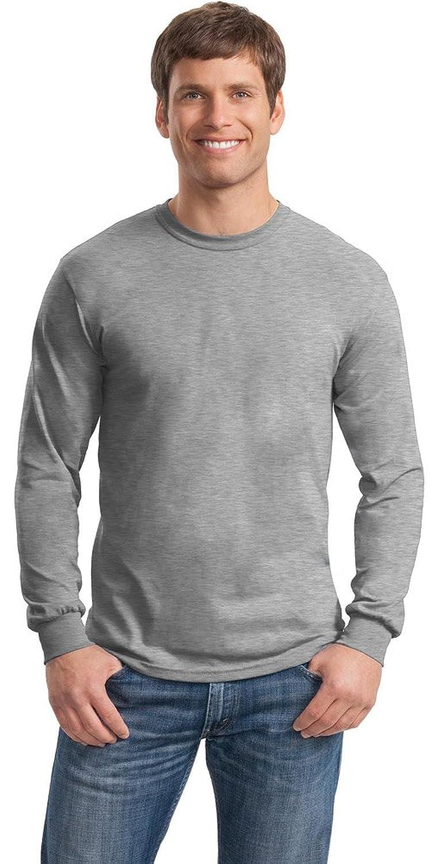 Gildan Mens DryBlend 50 Cotton/50 Poly Long Sleeve T-Shirt, Small, Sport Grey