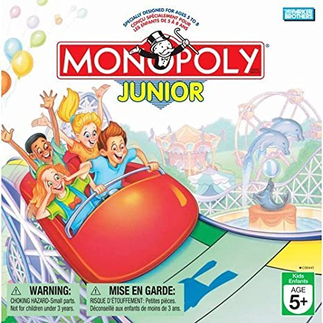 Parker Brothers Monopoly Junior Board Game 1999 Version