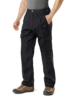CQR Men's Tactical Pants Lightweight EDC Assault Cargo, Duratex Mag Pocket(tlp105) - Black, 30W/30L