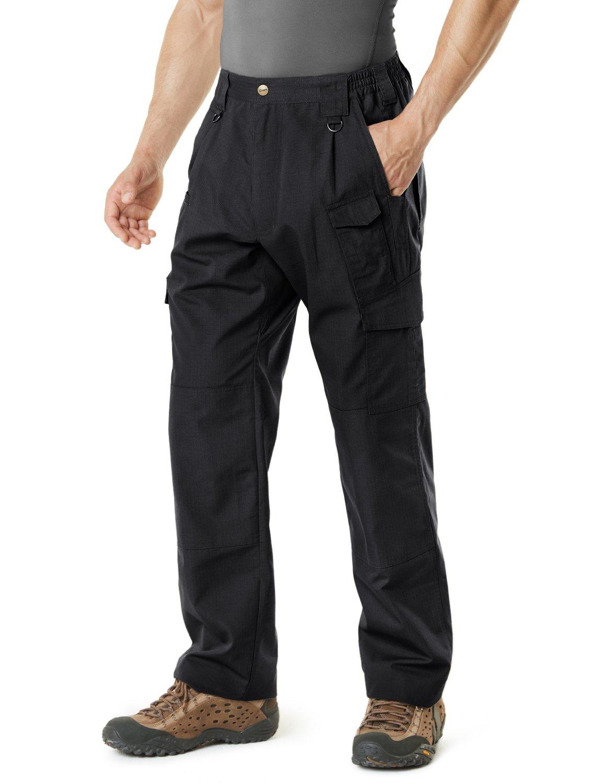 CQR Men's Tactical Pants Lightweight EDC Assault Cargo, Duratex Mag Pocket(tlp105) - Black, 28W/30L